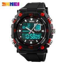 SKMEI Jam Tangan Pria Digital Analog 1092 Red Water Resistant 50M
