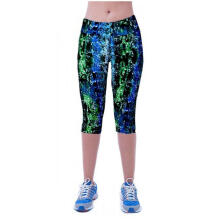 High Waist Fitness Yoga Sport Pants Printed Stretch Cropped Leggings S_S