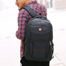 Wei's selected fashion men's wear-resistant waterproof computer backpack hot trend computer backpack B-DSY056 Black