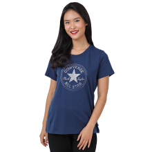 CONVERSE Clear Foil Chuck Patch Crew Tee - Navy