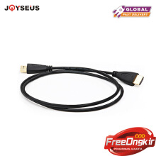 JOYSEUS HDMI Cable 1.5M Male to Male Gold Plated HDMI 1.4V 1080P 3D for PS3 projector HD LCD Apple TV computer cable Hitam 1.5M
