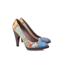 Pre-Owned Miu Miu Embroidered Fabric Pumps
