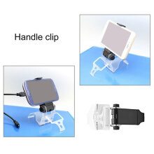 [OUTAD] Mobile Phone Clamp Stand Clip Holder for PS4 Game Controller Bracket Black TRANSPARENT
