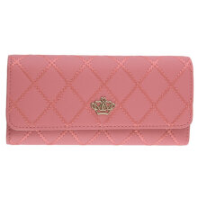 [COZIME] Lady Women Crown Clutch Long Purse PU Leather Wallet Card Holder Handbag Pink1