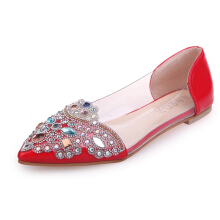 Jantens NEW Fashion 2018 Flats Shoes Women Ballet Princess Shoes Casual Crystal Boat Shoes Rhinestone Women Flats shoes