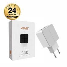 VIDVIE 2 USB Port Iphone Charger PLE204 (USB Cable Included-Iphone)