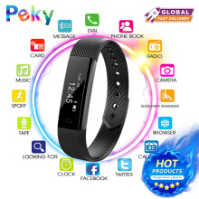 PEKY ID115HR Smart Bracelet Fitness and Sleep Tracker Pedometer Heart Rate Monitor