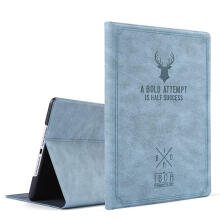 DELIVE Hot sale Retro Deer Pattern Case Auto Sleep /Wake Up Flip PU Leather Cover for new ipad 9.7 2018 10.5 ipad pro