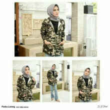 Jaket Parka Loreng - Army - All Size