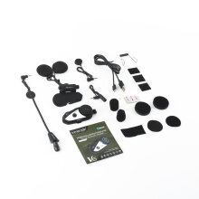[COZIME] V8 Multi-functional 2 Way Radio Bluetooth Interphone Motorcycle Helmet Headset Black