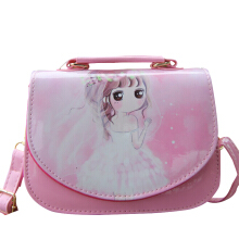SiYing Cartoon Cute Bright Girl Snack Bag Crossbody Bag Dress back