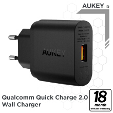 Aukey Turbo Charger 1 Port 18W QC 2.0 - 500224 Black