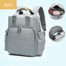 BLINGO VR10 Mummy bag large capacity waterproof fashion backpack backpack multi-function travel maternal and child package Grey