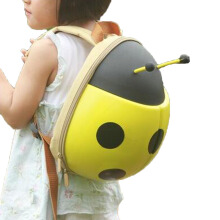 BL Ladybug Rucksacks Children 3D Cartoon School Bags Kids Backpack -OneSize -Yellow