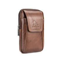 LAOSHIZI Vintage Bag Top Layer Leather Wear Belt Men's Waist Bag