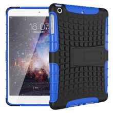 RockWolf iPad Mini 1/2/3 case TPU anti-fall tire pattern back clip bracket flat shell