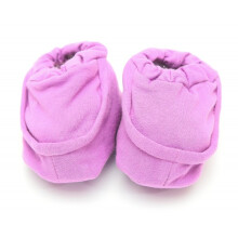 Cribcot Booties Plain - Purple  3-6M