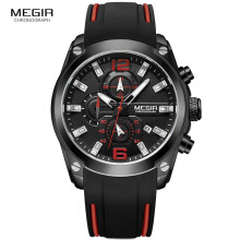 PEKY Megir MN2063G Sports Watches Men Luxury Brand Army Military Mens Watches Clock Male Watch