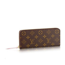 LOUIS VUITTON CLEMENCE  Women Brown Leather Wallet M61298 Dark Brown
