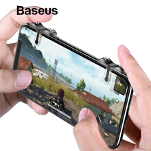 Baseus Handphone HP Shooting Game Trigger Fire Button Aim Key Buttons L1 R1 Mobile Phone Game Shooter Controller for Android IOS