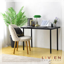 LIVIEN FURNITURE -  Meja kerja - Lucas Office Table Black