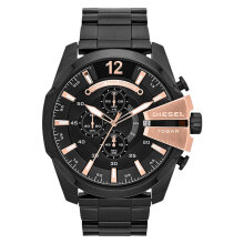 Diesel DZ4309 Mega Chief Analog Men Black Dial Black Stainless Steel [DZ4309]