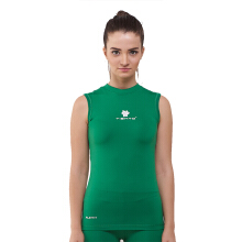 Tiento Baselayer Manset Compression Sleeve Less Green White Baju Kaos Lekbong Ketat Olahraga
