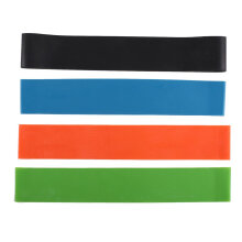 Elastic Resistance Bands 4 Level Exercise Loop Bands Gym Fitness Training Yoga Multicolor