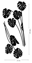 OMAHKU Wall Sticker Black Monstera with handle
