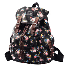Douguyan Canvas Backpack/Nylon Backpack Floral Backpack Print Cute Backpack for Teen Young Girls