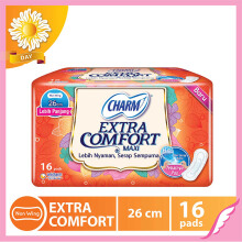 CHARM Pembalut Extra Comfort Maxi Non Wing 26cm 16 pads
