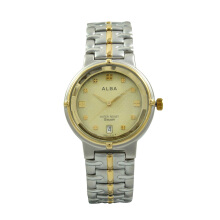 Alba Jam Tangan Pria - Silver Gold - Stainless Steel - AXDL80