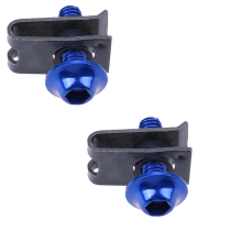 JMS - 1 Pair (2 pcs) Fairing Bolts Clip Screw Alumunium Spring Nuts / Baut dan Penjepit Fairing - Blue