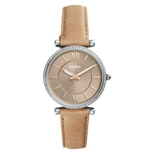 Fossil ES4343 Carlie Taupe Dial Tan Leather Strap [ES4343]