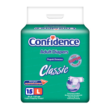 CONFIDENCE Adult Diapers Classic [L] 15's