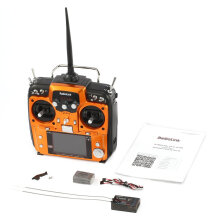 COZIME Radiolink AT10II 2.4G 12CH RC Transmitter Radio with R12DS Receiver RPM-01 Orange