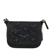 COACH F59360 Patricia 18 Butterfly Applique Xbody Blackmulti [COA01875B] Black