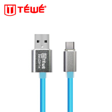 TEWE Kabel Data Fast Charging 2A Glow Type-C 1M