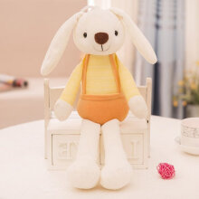 [kingstore] Kids Cartoon Sugar Candy Rabbit Plush Doll Cute Rabbit Soft Stuffed Doll Yellow