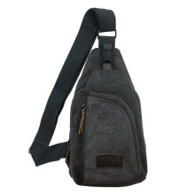 COZIME Man Canvas Zipper Flap Shape Messenger Shoulder Bag Customized Outdoor Sports Grey
