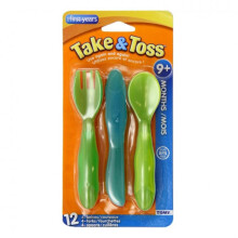 The First Years Take & Toss Toddler Flatware - 12 Pcs