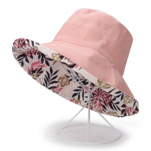 Zanzea 0051Men Women Printting Bucket Hat Outdoor Uv Protection Folding Sun Fishing Cap  Beige