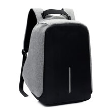 COZIME Anti-theft Backpack with USB Charging Port Laptop Waterproof Knapsack Grey