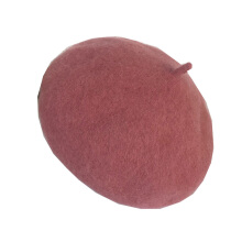 SiYing Fashion Wool Solid Color Beret Winter Cute Lady Hat