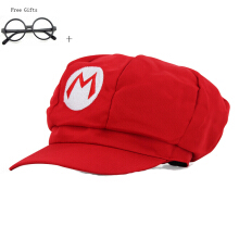 Anamode Super Mario Hat Cap Letter M Baseball Cosplay Hats + Free Gifts Eye Glasses
