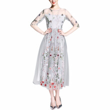 Jantens Dress gorgeous half sleeve elegant embroidered maxi dress bohemian