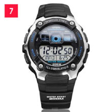 Casio  AE-2000W-1A Sports double display waterproof electronic watch-Black