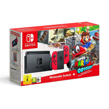 NINTENDO Switch Super Mario Odyssey Bundle (Game Included) 32GB