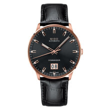 Mido M021.626.36.051.00 Commander II Big Date Automatic Black Dial Black Leather Strap [M021.626.36.051.00]