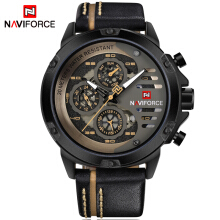 PEKY NAVIFORCE  Mens  Military Sport Leather Quartz wristwatches Waterproof Men's Wrist watch